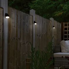 lighting ideas solar Deck Fence LED Solar Power Dusk-To-Dawn Wall Pack Diy Solar, Solar Light Crafts, Solar Led, Fence Lighting, Backyard Lighting, Outdoor Lighting, Outside Lighting Ideas, Outdoor Lamps, Backyard Fences