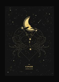 Cancer Figure Constellation – Cocorrina & Co Ltd Constellation Du Cancer, Constellation Tattoos, Orion Tattoo, Cancer Zodiac Art, Art Zodiaque, Cancer Tattoos, Cancer Moon, Cancerian, Zodiac Constellations