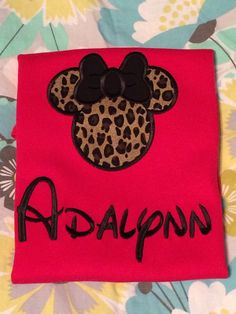Minnie Mouse Shirt by AndSewOn30 on Etsy