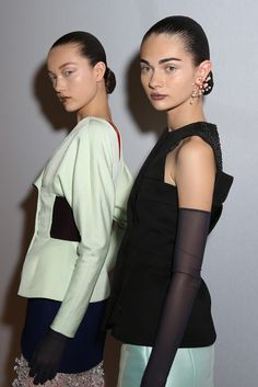 Backstage at Dior Fall Haute Couture 2013