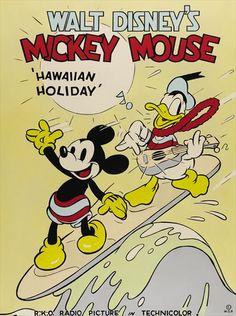 Hawaiian Holiday 1937, full cartoon