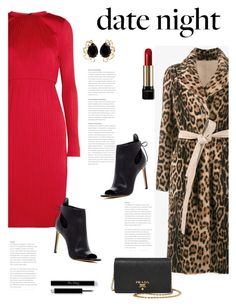"""Hot Date Night Style"" by bliznec ❤ liked on Polyvore featuring MaxMara, Yves Salomon, Vince, Prada, Bounkit, Lancôme, DateNight, polyvoreeditorial and polyvorecontest"