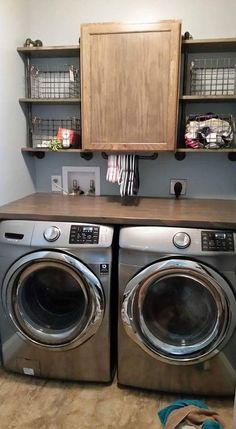 "Outstanding ""laundry room storage diy shelves"" detail is offered on our site. Take a look and you wont be sorry you did. Laundry Room Remodel, Laundry Room Cabinets, Laundry Room Organization, Organization Ideas, Storage Ideas, Diy Cabinets, Laundry Shelves, Laundry Closet Makeover, Laundry Room Countertop"