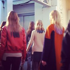 #LFW Tie-Dye hair tips.