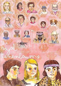 The Royal Tenenbaums.Part of a series of Wes Anderson hand-drawn film posters Cinema Posters, Film Posters, Love Movie, I Movie, The Royal Tenenbaums, Tomorrow Is Another Day, I Believe In Pink, Nerd Love, Alternative Movie Posters