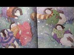 Five Little Penguins Slipping on the Ice counting book read aloud early ...