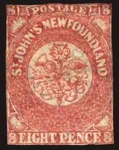 Newfoundland #22 8P Rose 1861-62 Faintly Used CV $300+