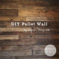 DIY Pallet Wall via Cape27Blog