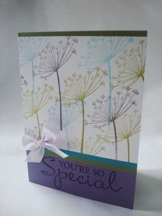 You're so special - Hero Arts Silhouette Spray Handmade Birthday Cards, Greeting Cards Handmade, Hero Arts Cards, Stamping Up Cards, Rubber Stamping, Pretty Cards, Paper Cards, Cool Cards, Card Tags