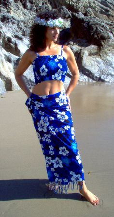 clothes from hawaii for women | Tie the skirt like a beach wrap as well...