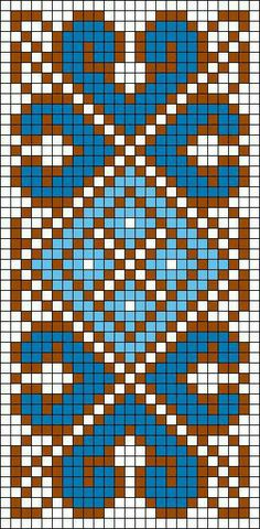 blue border design on grid.