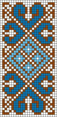 blue border design on grid.