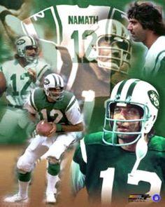 Joe Namath Forever New York Jets Classic Poster Print - Photofile Nfl Football, Football Players, Football Helmets, Football Girls, Alabama Football, American Football League, National Football League, Jake Plummer, Joe Namath
