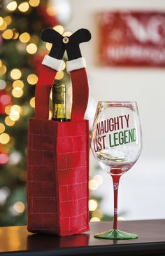 """Features:  -Made of felt.  -Humorous wine bag. Dimensions:  Overall Height - Top to Bottom: -9"""".  Overall Width - Side to Side: -4"""".  Overall Depth - Front to Back: -3"""".  Overall Product Weight: -0.13"""