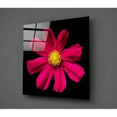 Černo-červený skleněný obraz Insigne Flowerina, 30x30cm | Bonami Tapestry, Blog, Painting, Home Decor, Art, Products, Window Table, Women, Mesas
