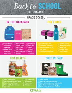 Prepare your grade schooler for fall with this checklist!