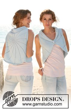 "Knitted DROPS circular vest in ""Paris"". Size: S - XXXL. ~ DROPS Design"