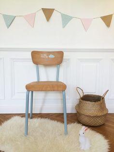 Chaise ecolier vintage