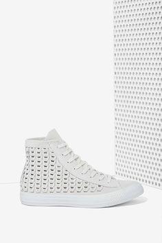 Converse All Star High-Top Suede Sneaker - Woven Gray