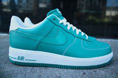 Nike Air Force1 Lush Teal/Lush Teal-White