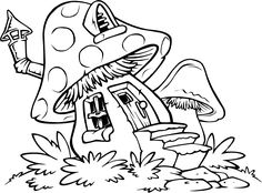 Printable Camplicated Coloring Pages | Title: Free Printable Mushroom Coloring Pages