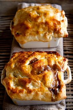Pot pies with beef and mushrooms