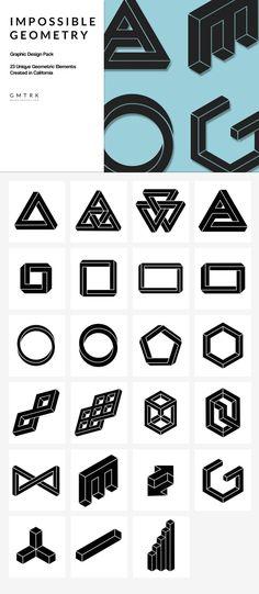 Freebie ... Impossible Geometry by Pixel Supplies on @creativemarket ... https://crmrkt.com/poaBA