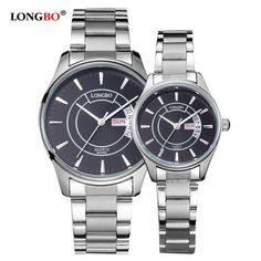 LongBo 2017 New Fashion Men Women Stainless Steel Quartz Waterproof Casual Popular Business lovers Watches Round Wristwatches #Affiliate