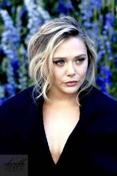 ✿ Anna Oíche ✿  // Elizabeth Olsen attends the Christian Dior show as...