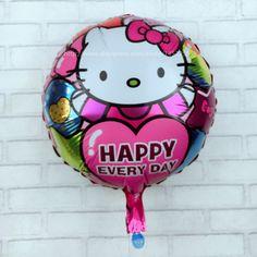 xxpwj free shipping new round kt cat aluminum balloons wedding birthday party decoration balloon toy wholesale