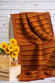 Autumn Zig-Zag Throw - I Like Crochet ~ Aug 2015