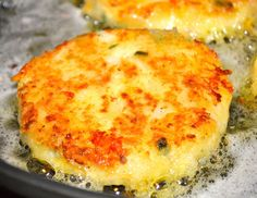 Cheesy Leftover Mashed Potato Pancakes... I guarantee you, I will be DREAMING of these tonight