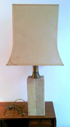 Exquisite 1960's Travertine Lamp | From a unique collection of antique and modern table lamps at http://www.1stdibs.com/furniture/lighting/table-lamps/