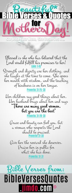 >> Bible Verses for Mother's Day >> Bible Verses about Mother's Love >> Mothers Day Bible Verses for Cards Bible Verses About Mothers, Mothers Love Quotes, Mother Quotes, Bible Verses Quotes, Scriptures, Happy Mother Day Quotes, Mothers Day Brunch, Happy Mothers, Sunday School Lessons