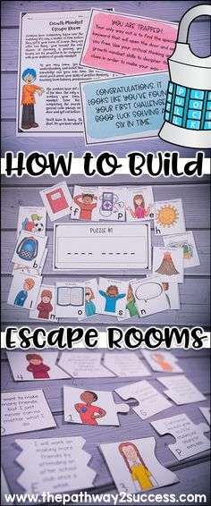 How to build escape rooms as learning activities for kids and young adults! Did you know you can really teach ANY skills with an escape room? This post shares info on how you can create your own activities and puzzles to help your students learn. Escape Room Diy, Escape Room For Kids, Escape Room Puzzles, Escape Box, Escape Games, Activities For Adults, Kids Learning Activities, Student Learning, Learning Skills