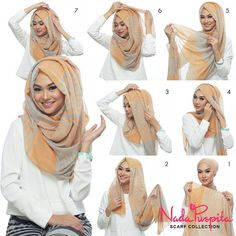 This is a hijab that Muslim women have to wear because it is a part of the religion. You can wear hijab in many different ways. The woman have to wear hijab in front any stranger that a man she could take it off in front of any girl. Turban Hijab, Mode Turban, Hijab Dress, Hijab Niqab, Swag Dress, Hijab Chic, Stylish Hijab, Easy Hijab Style, Hijab Mode Inspiration
