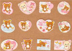 Rilakkuma teddy bear sticker sack San-X kawaii
