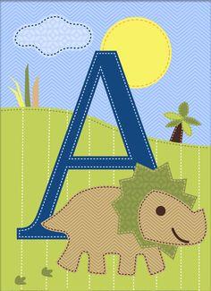 Adorable Dinos, custom name prints.