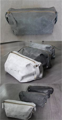 This toiletry bag is so great! It's leather, insanely sturdy, and completely unisex | Made on Hatch.co by independent makers & designers                                                                                                                                                                                 Más