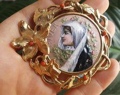 Antique French Art Nouveau Pendant
