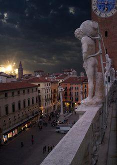 View from The Basilica Palladiana on Piazza dei Signori - Vicenza, Veneto, Italy