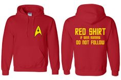 Red Shirt Crewmen - Star Trek Inspired Hoodie- this is awesome!!!!!