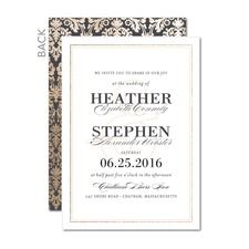 Victorian Splendor Wedding Cards