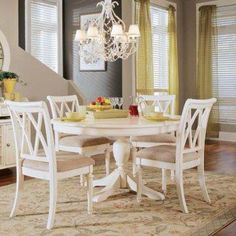 Round Pedestal Dining Table.