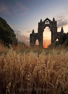 """pagewoman:  """"  Guisborough Priory, North Yorkshire, England.  by Leigh Rebecca  """""""