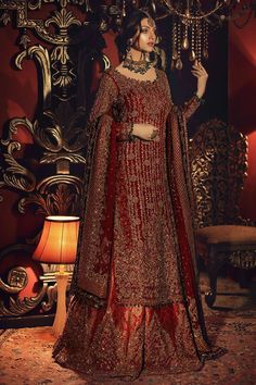 Traditional and grand collection of Pakistani bridal dresses by Aisha Imran - Pakistani Bridal Wear Online Asian Bridal Dresses, Asian Wedding Dress, Indian Bridal Outfits, Pakistani Bridal Dresses, Pakistani Wedding Dresses, Indian Designer Outfits, Bridal Lehenga, Indian Dresses, Shadi Dresses