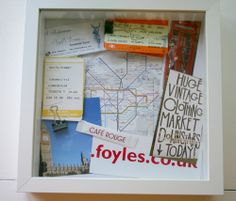 DIY travel shadow box - going to make a whole wall of these