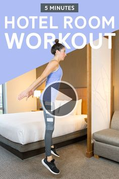 Hiit Workout Videos, Fun Workouts, At Home Workouts, Hotel Room Workout, Best Body Weight Exercises, Fitness Tips For Women, At Home Workout Plan, Belly Fat Workout, Total Body