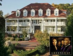 """The """"Greenleaf"""" Mansion: The Real House Where the TV Drama Is Filmed - Hooked on Houses Cute Boyfriend Texts, Practical Magic, Entry Hall, Filming Locations, Other Rooms, Green Leaves, Family Life, Acre, Beautiful Homes"""