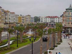 Market Commons Shopping plaza.    Myrtle Beach, Beach Tourism Destination in South Carolina